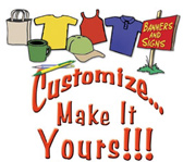 Custom Apparel Designs, Screen Printing, Embroidery, Hats, Banners, Signs, Custom Artwork and Logos